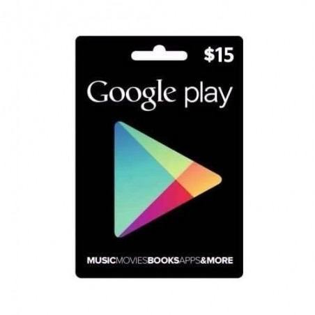 Google Play Store Gift Card Tarjeta Regalo $15