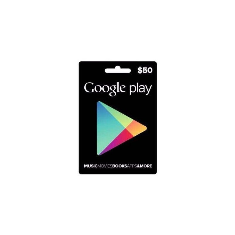 Google Play Store Gift Card Tarjeta Regalo $50