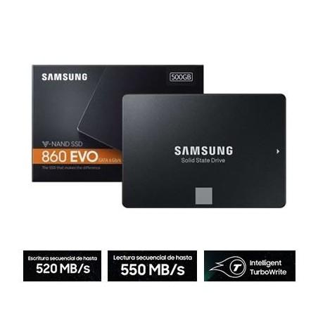 Disco Duro SSD 500GB Solido Samsung 860 EVO Sata 3 2.5 550MB/s