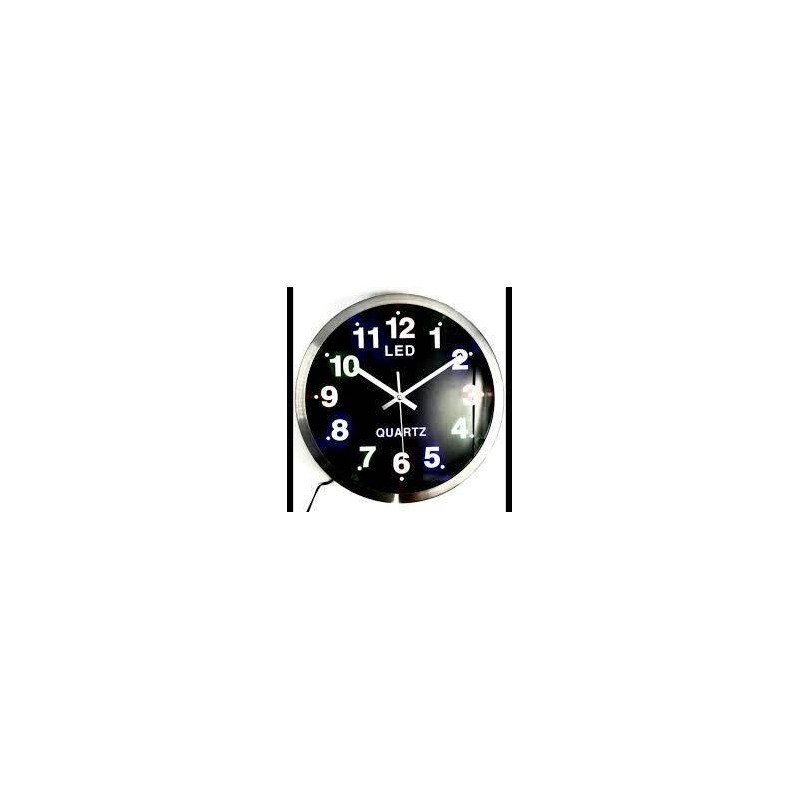 RELOJ DE PARED FONDO NEGRO QUARTZ
