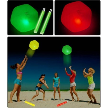 PELOTA DE PLAYA CON LUZ LED
