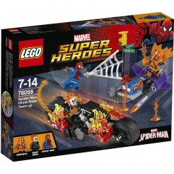 Juguete de Spiderman Lego, de Marvel Super Heroes Spider Man: Ghost Rider Team-up 76058