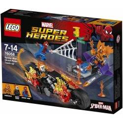 Juguete de Spiderman Lego, de Marvel Super Heroes Spider Man: Ghost Rider Team-up 76058