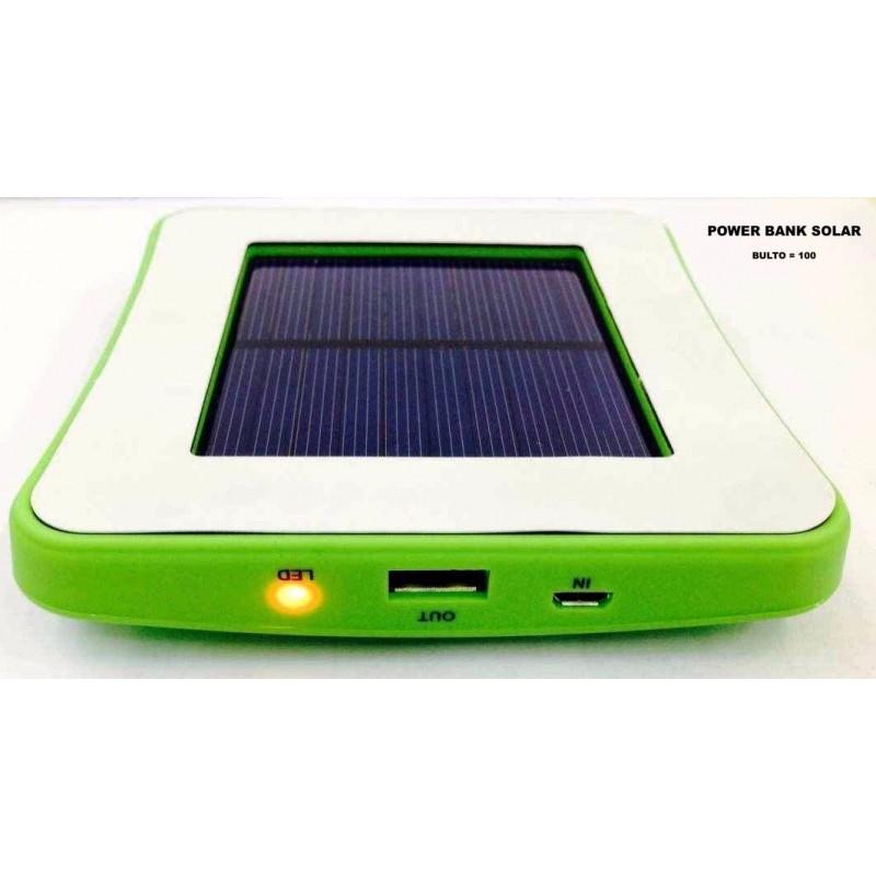 Power Bank Solar, cargador portatil para celular