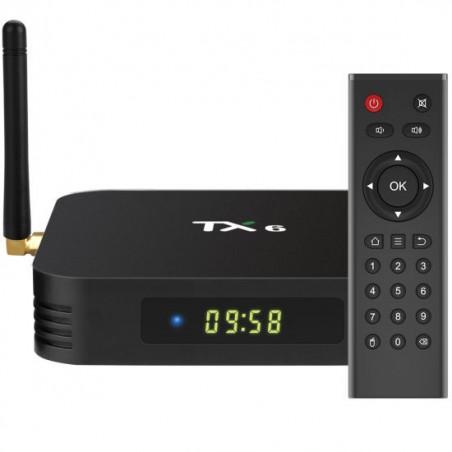 TV BOX TX6-P MINI-A SMART 4K ALLWINNER H6, UP TO 1.5 GHZ, QUAD CORE ARM CORTEX-A53 ULTRA HD