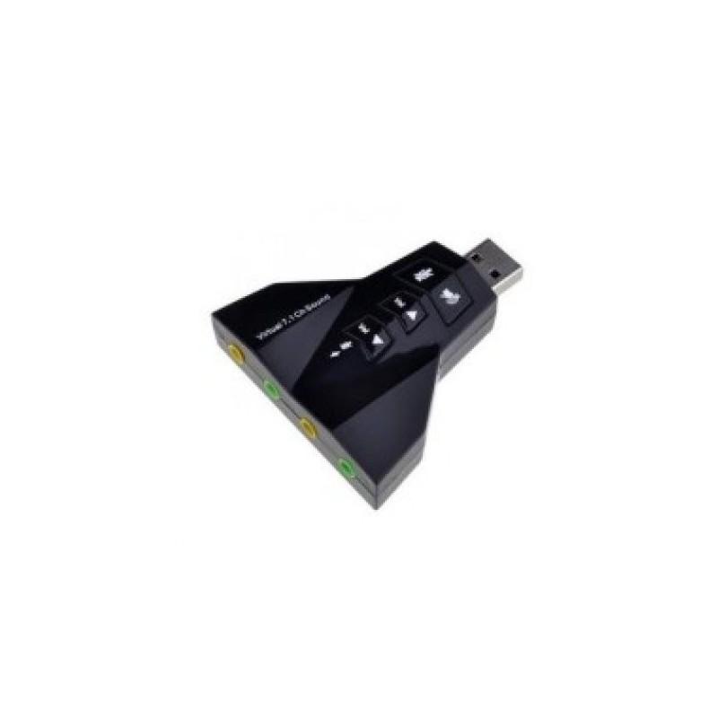 Tarjeta de Sonido Externa USB Virtual 7.1 Nitron PD560