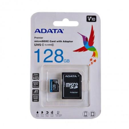 Micro Sd Adata 128GB con Adaptador Clase 10
