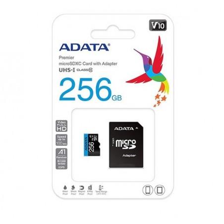 Micro SD Adata 256GB con Adaptador Clase 10