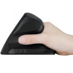 Mouse Vertical Nitron Diseño vertical - Negro