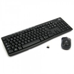 Teclado-Mouse Combo Logitech Mk270 Black Wireless Usb