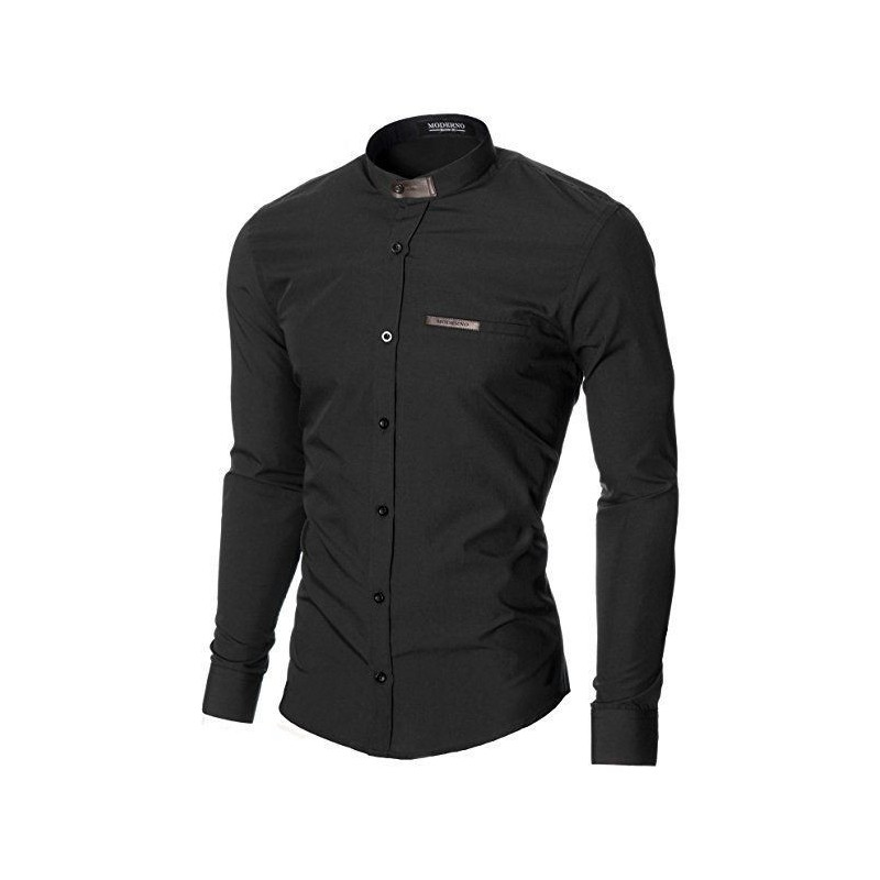 Camisa casual para caballero negra