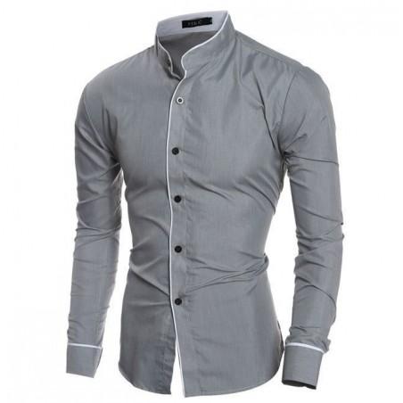 Camisa casual para caballero gris