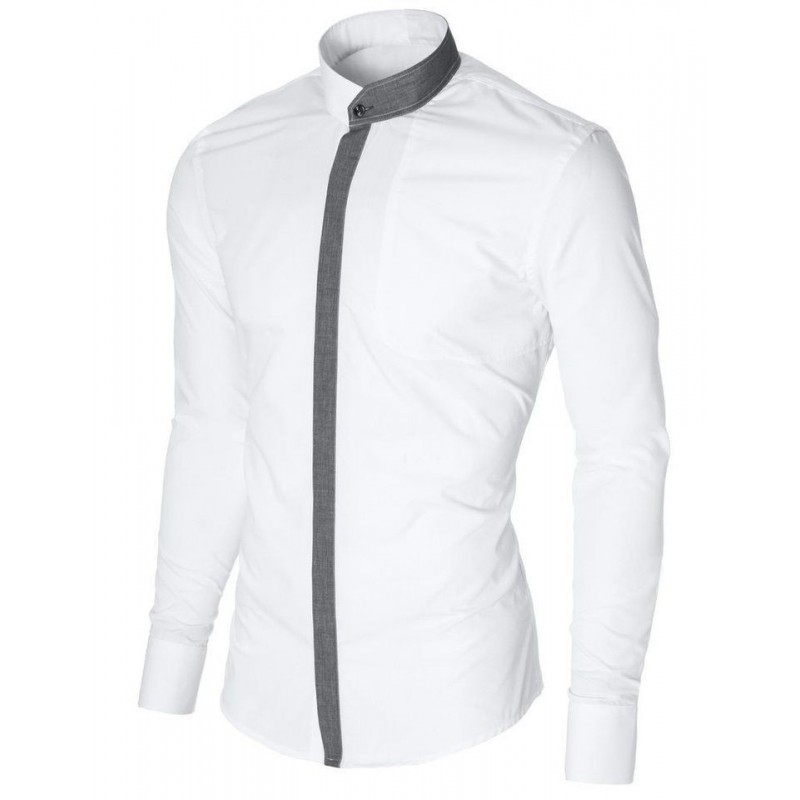 Camisa casual para caballero sin cuello