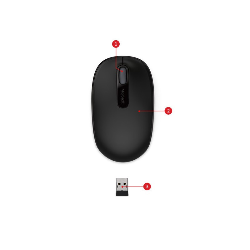 Microsoft inalámbrico Mobile Mouse 1850