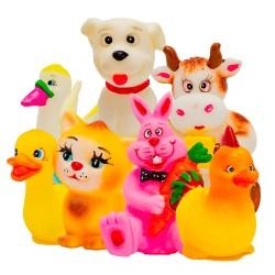 Animalitos de granja (CAUCHO) x 7 UNIDADES