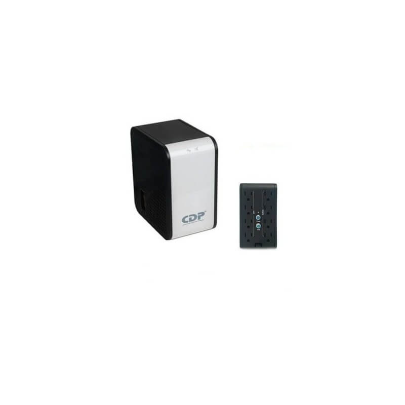 Regulador De Voltaje CDP 1200w 8 tomas -Negro