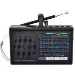Radio AM/FM de Bolsillo 7-9 Bandas con USB Batería Recargable