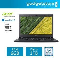 "Laptop Acer Aspire 3 A315 Intel Core i5 Windows 10 RAM 6GB DD 1TB 15,6""NOTEBOOK HP 15.6pulg. BS115DX-Kartyy 