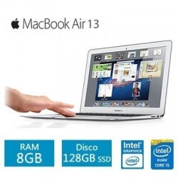 Apple MacBook Air Intel Core i5 RAM 8GB SSD 128GB 13pulg Plateado-Kartyy | SuperMarket Online