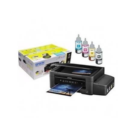 Impresora Multifuncional L395 Wi-Fi EcoTank Sistema Tanque de Tinta