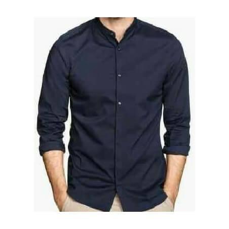 Camisa Formal para caballero- Azul Oscuro