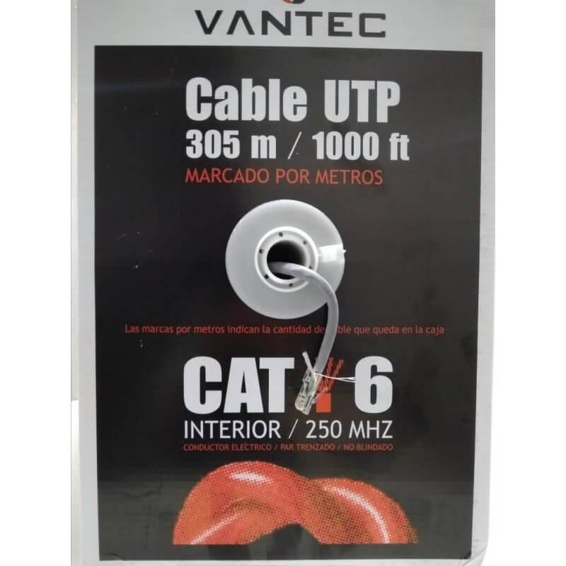 CAT6 CABLE UTP VANTEC ROLLO 305MTS 23AWG INTERIOR M7 CCA-E