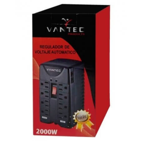 REGULADOR VANTEC 2000W 120V/60HZ 8 TOMAS