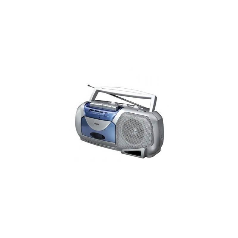 Radio grabadora portátil Retro CXC350SLV Coby- Plata