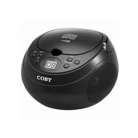 Radio grabadora portátil Cd MPCD170BLK Coby - Negra
