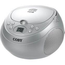 Radio grabadora portátil Cd MPCD170SLV Coby - Plata
