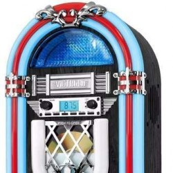 Mini Rockola Victrola Bluetooth/cd/radio Luz