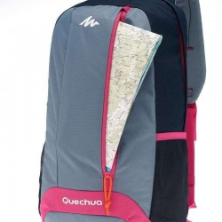 Mochila Quechua Original Europea Importada 20L Purple-Grey