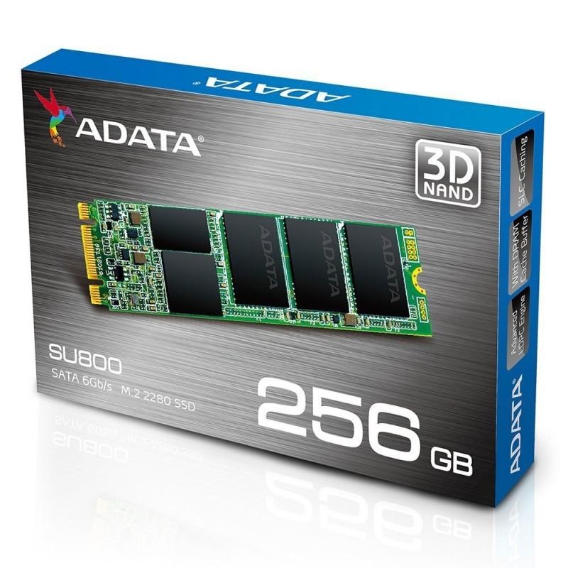 SSD ADATA 256GB SU800 M.2 SATA 6GB/S, 2D NAND FLASH, LECTURA 560MB/S ESCRITURA 520MB/S