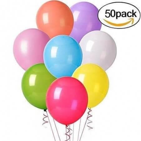 Paquete 50 Globos Luz Led Eventos Cumpleaños Fiestas