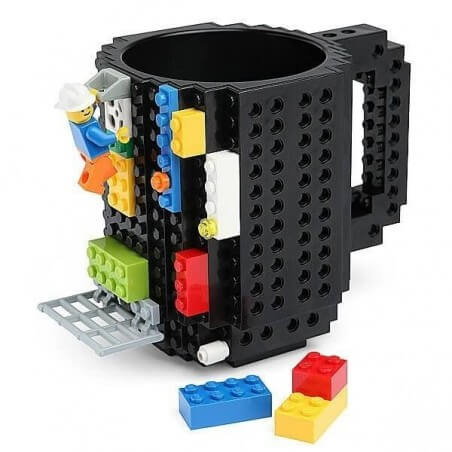 Taza Jarro Tipo Lego Incluye Piezas Ladrillos Para Construir