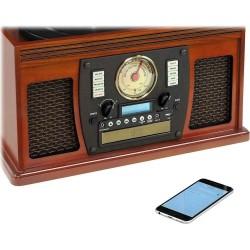 Toca Discos Victrola 7 X 1 Cassette Bluetooth Radio USB