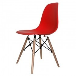 Silla Eiffel estilo retro color rojo