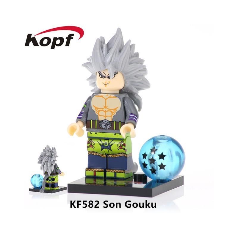 Minifigura Lego Goku Ultra Instinto Fase 4 Dragon Ball Heroes