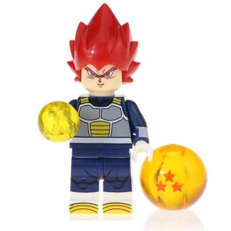 Minifigura Lego Vegeta SSD Rojo Dragon Ball Super