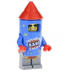 Minifigura lego Fuegos artificiales chico circo Tropa payaso