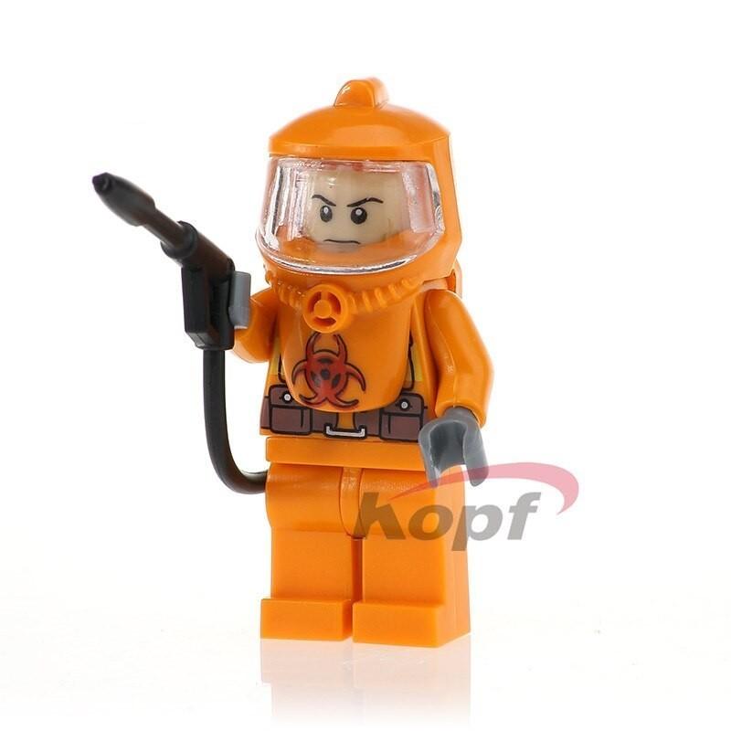 Minifigura Lego Bombero Lucha contra incendios