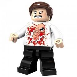 Minifigura Lego de Chestburster, persona infectada por Alien