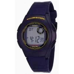 Reloj Deportivo casio f200w-2b iluminator
