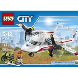 LEGO CITY AVIÓN AMBULANCIA 60116